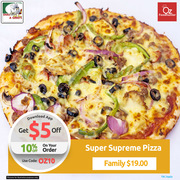 Get 10% off on your 1st Order @ Dial A Gino's
