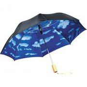 Shop Custom Printed Blue Skies Auto Open Folding Umbrella At Vivid Pro